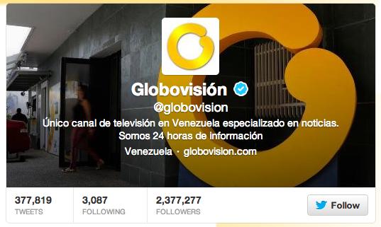 Globovision Twitter