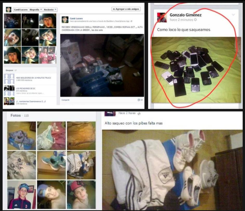 fotos fb saqueos